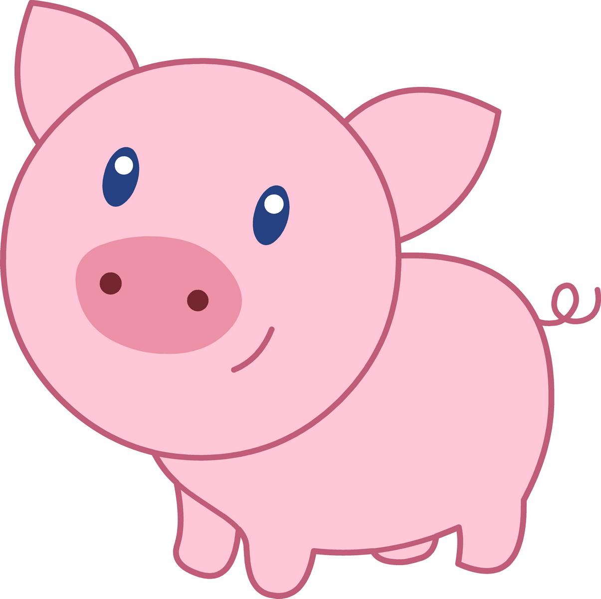 Cute Pig PNG HD - 122438