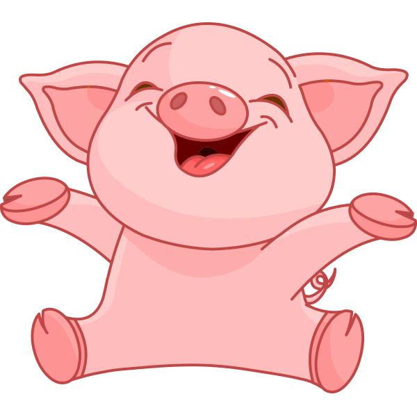 Cute Pig PNG HD - 122434