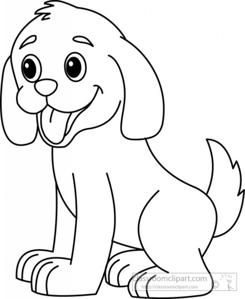 Cute Puppies PNG Black And White - 164205