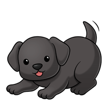 black lab....png image trans. back. Lab PuppiesCute PlusPng.com  - Cute Puppies PNG Black And White