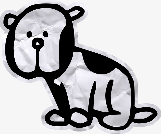 crumpled paper cute puppy, Puppy, Black And White, Broad Brush PNG Image and - Cute Puppies PNG Black And White