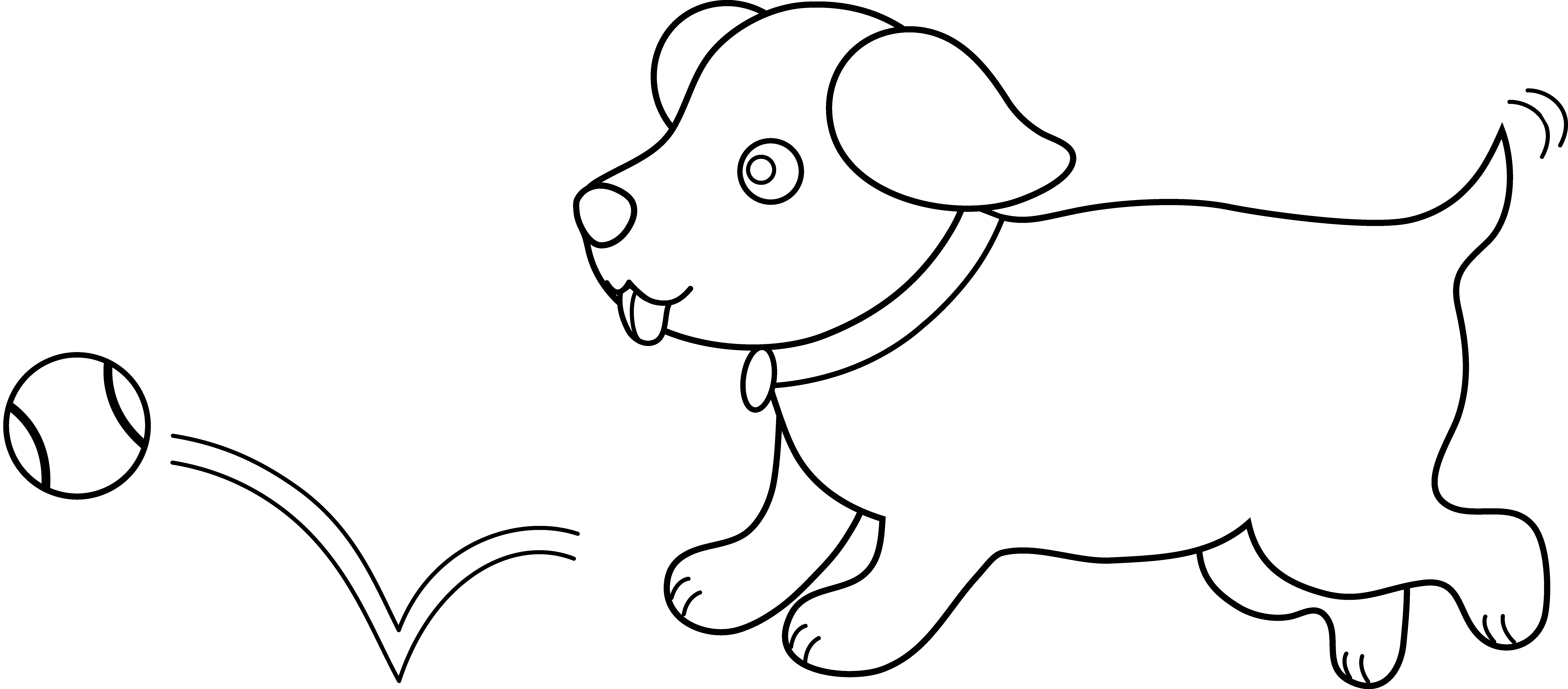 Cute Puppies PNG Black And White - 164200