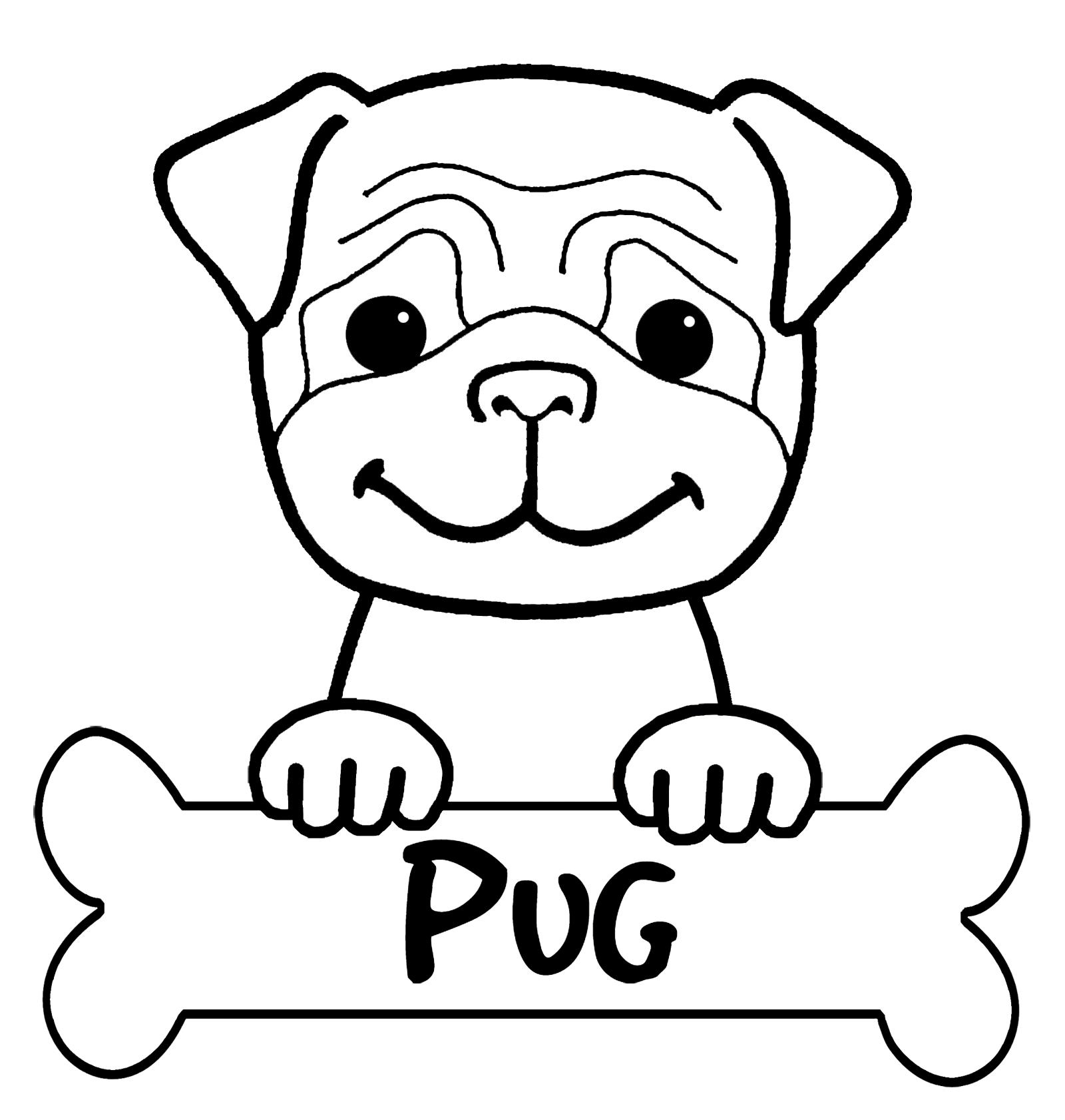 Cute Puppies PNG Black And White - 164210