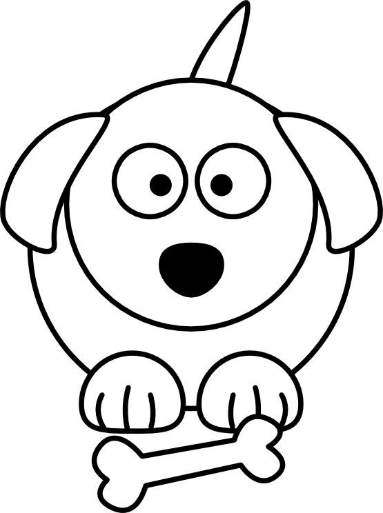 Dog Bed Drawing - Cute Puppies PNG Black And White