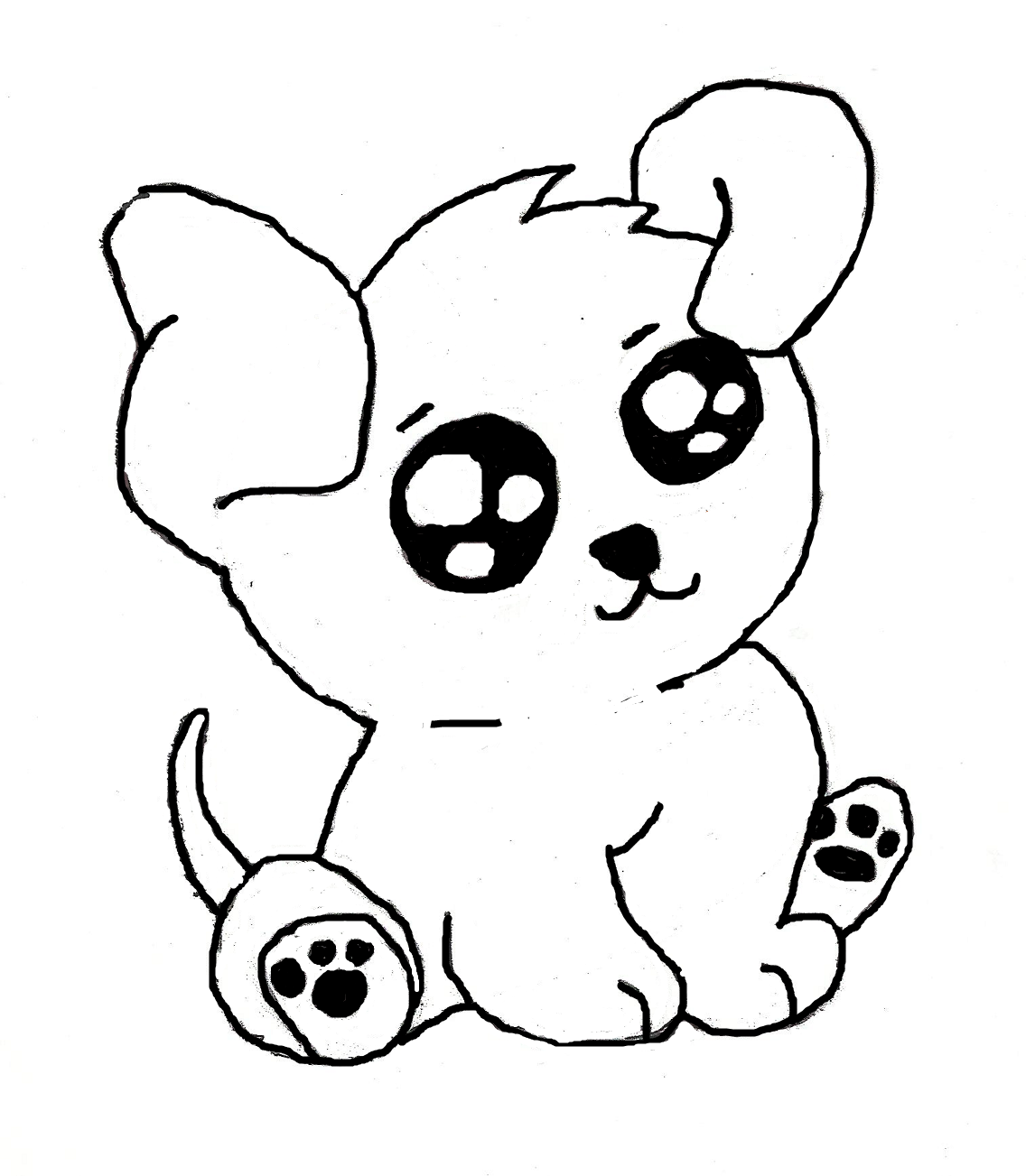 Cute Puppies PNG Black And White - 164203