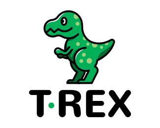 Cute T. Rex Logo Mascot - Cute T Rex PNG