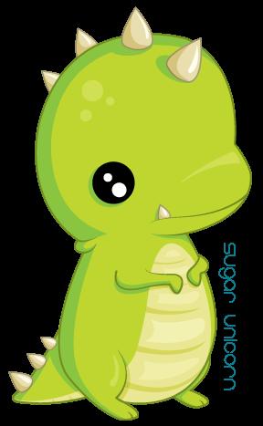 little t-rex. by sugarunicorn PlusPng.com  - Cute T Rex PNG