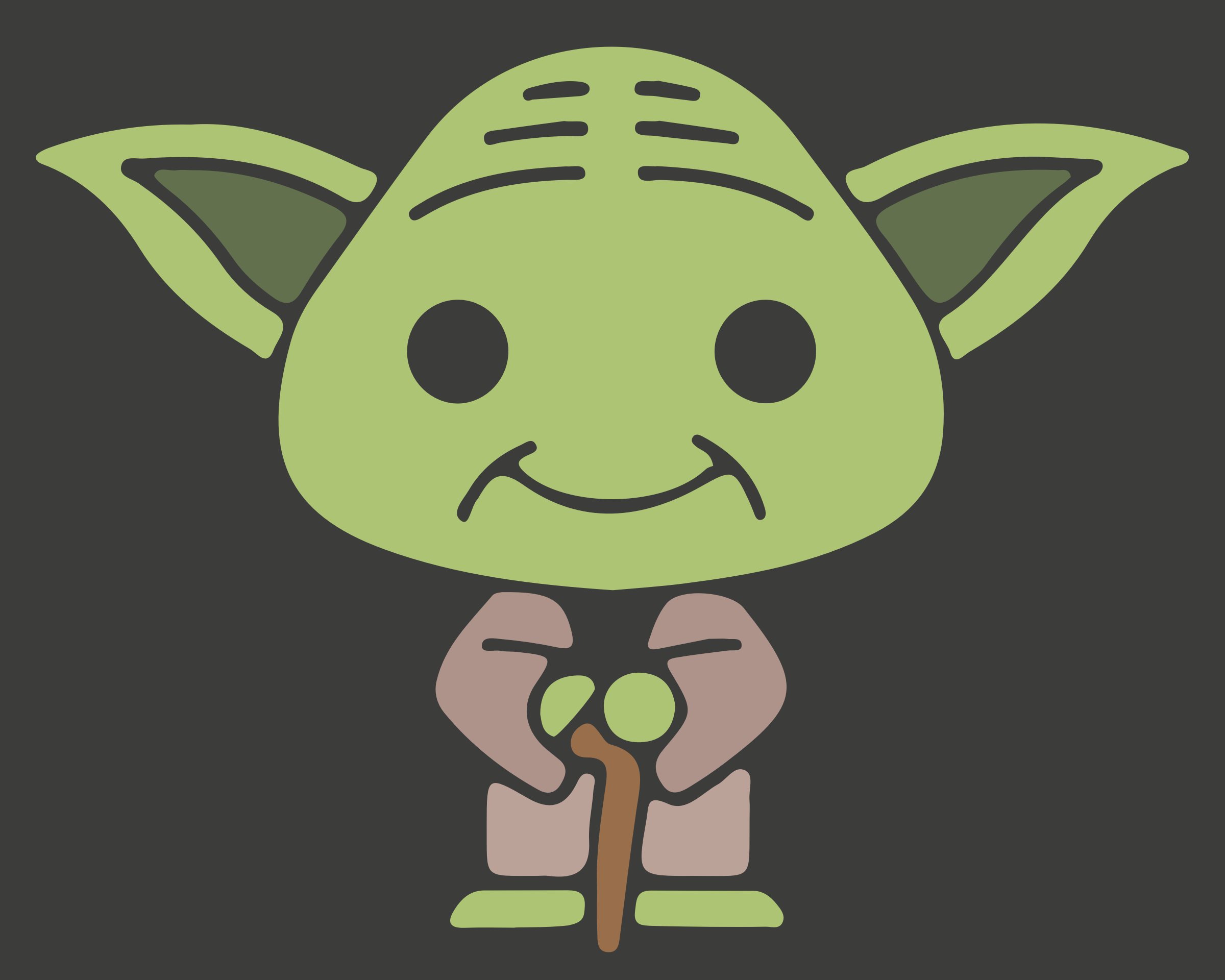 BIG IMAGE (PNG) - Cute Yoda PNG