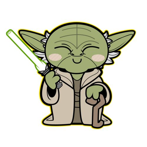Kawaii Yoda - Cute Yoda PNG
