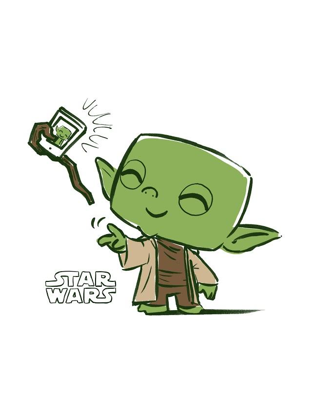 Star Wars Yoda Pop Tee by Funko, FYE exclusive - Cute Yoda PNG