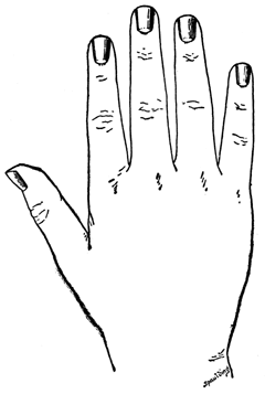 A hand with neatly trimmed nails. - Cutting Nails PNG