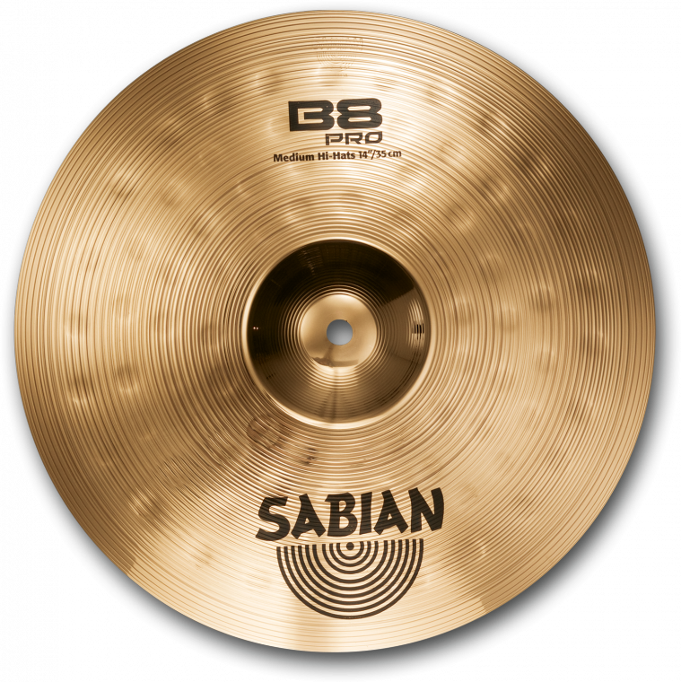 Sabian B8 Pro Medium Hi-Hats Cymbals - Brilliant - 14 Inch - Long u0026 McQuade  Musical Instruments - Cymbals Instrument PNG