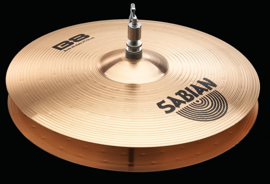Sabian B8 Pro Rock Hi-Hats Cymbals - 14 Inch - Long u0026 McQuade Musical  Instruments - Cymbals Instrument PNG