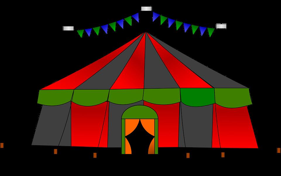 Cyrk, Namiot, Big Top, Pokaż, Paski, Karnawał, Rozrywka - Cyrk PNG