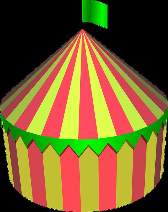 Namiot Cyrku, Cyrk, Namiot, Okrągłe, Kolorowe, Festiwal - Cyrk PNG