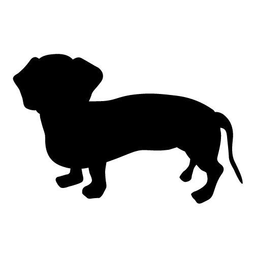 500x500 Dachshund silhouette clip art clipart collection - Dachshund PNG Black And White