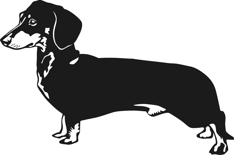 Black clipart dachshund #1 - Dachshund PNG Black And White