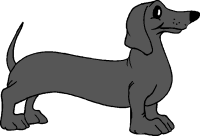 Dachshund - Dachshund PNG Black And White
