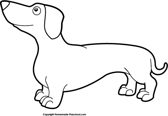 Dachshund clipart black and white #12 - Dachshund PNG Black And White