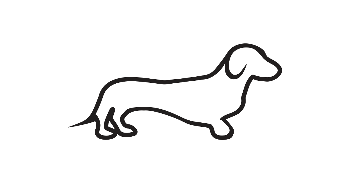 Dachshund clipart black and white #4 - Dachshund PNG Black And White