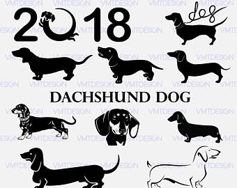 Dachshund SVG - Dachshund vector - Dachshund digital clipart files for  Design or more, files - Dachshund PNG Black And White