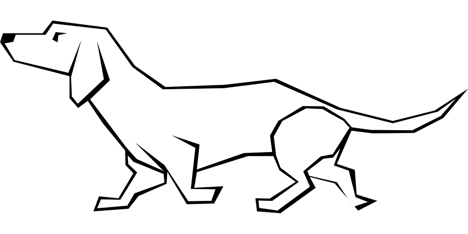 Dog, Animal, Dachshund, Mammal, Canine, Domestic - Dachshund PNG Black And White