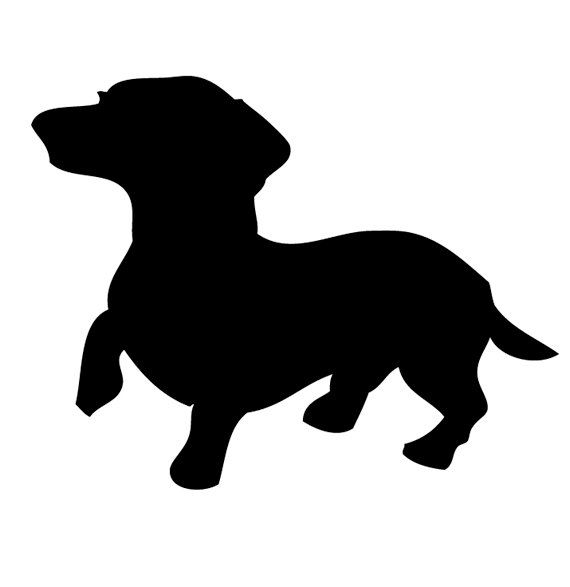 Dog breeds - Dachshund PNG Black And White
