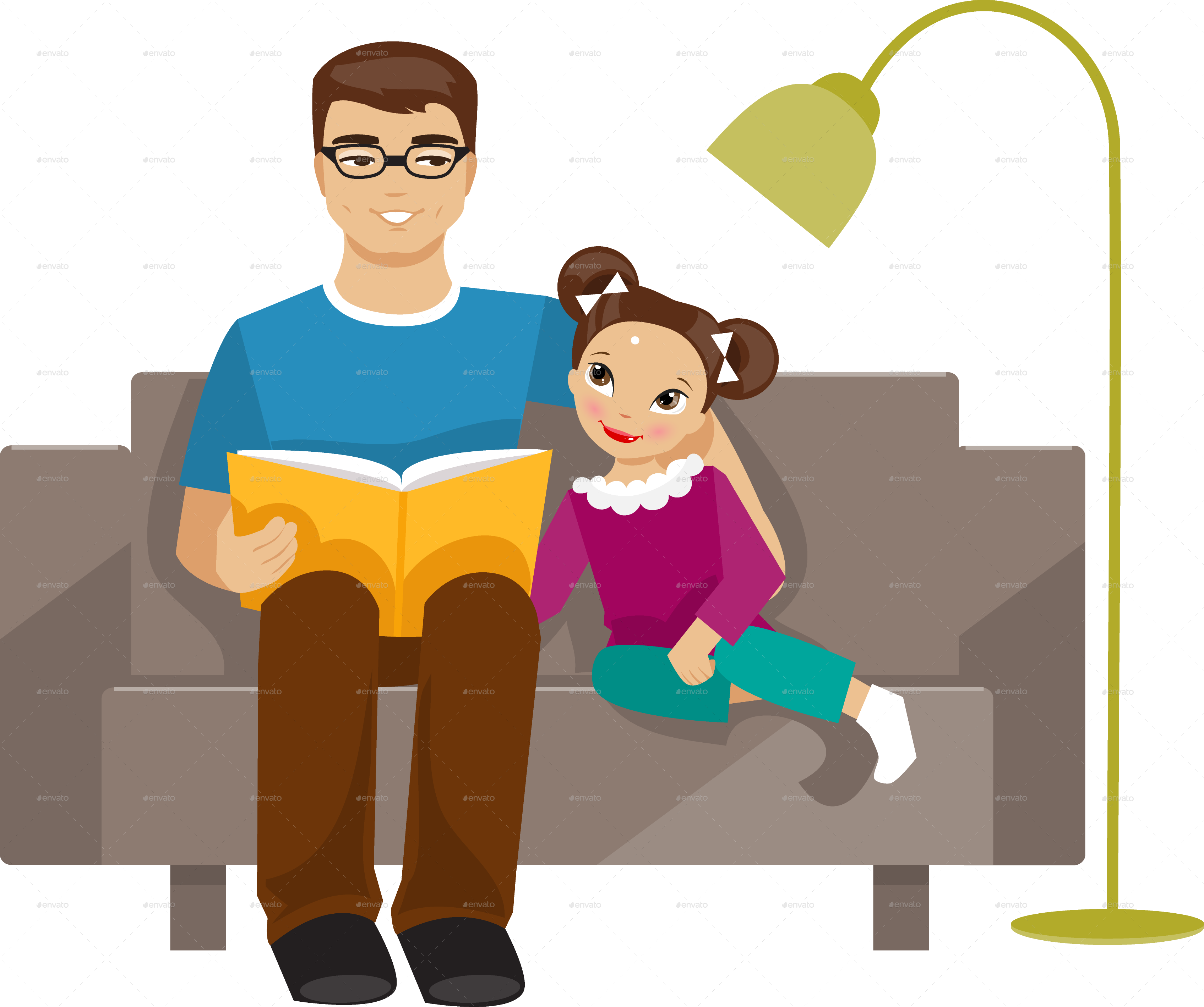 Dad And Daughter PNG - 134936