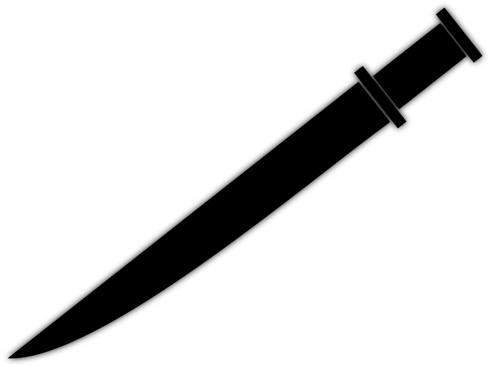 Dagger, Skean, Snickersnee, Poniard, Dirk, Sword - Dagger PNG Black