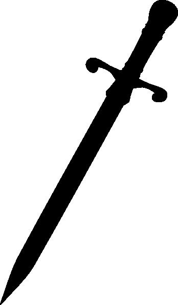PNG: small · medium · large - Dagger PNG Black