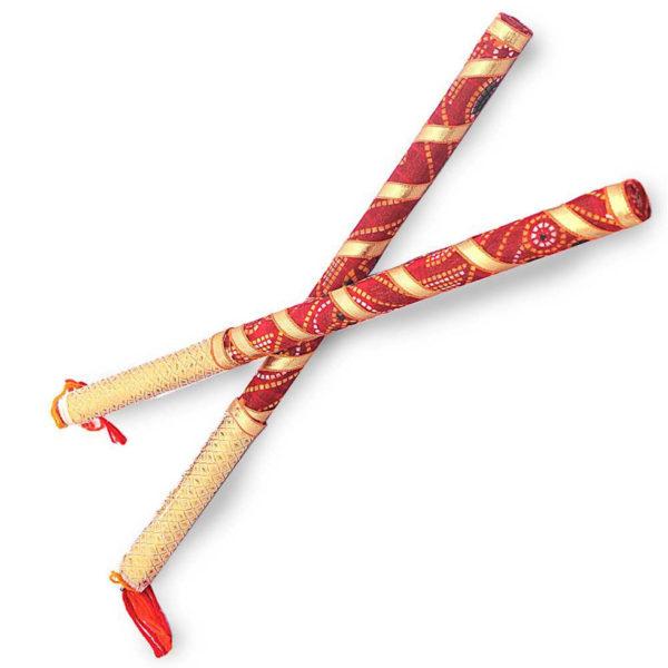 Bandhani Dandiya Sticks