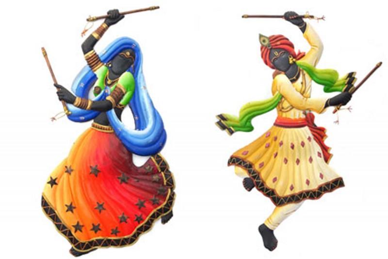 Dandiya Dancing Couple | Craf