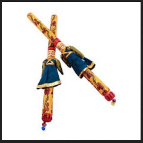 Dandiya Sticks( Decorated Wit