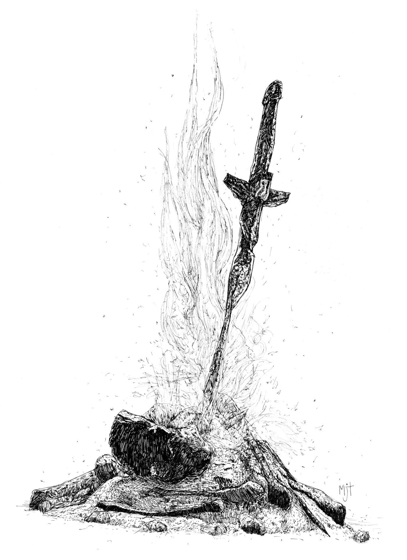 Znalezione obrazy dla zapytania bonfire dark souls png - Dark Souls PNG