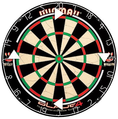 At regular intervals, we recommend that you remove the number ring from  your dartboard and turn the dartboard by a few segments. - Dart Board PNG HD