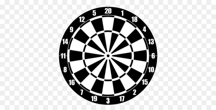 Darts Design Logo Pattern - Target PNG - Dart Board PNG HD