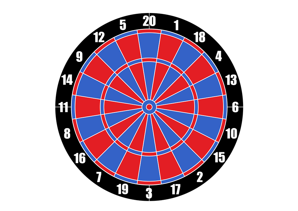 Free vector graphic: Vector Dartboard, Target, Darts - Free Image . - Dart Board PNG HD