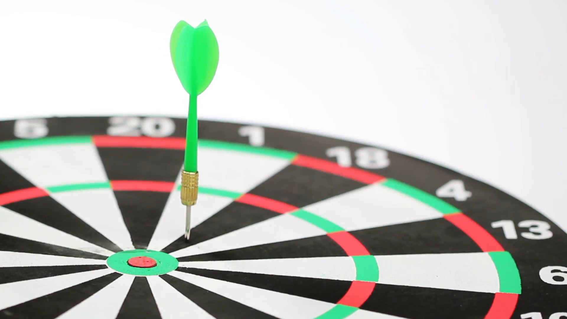 Six darts in red and green color hitting the dartboard, low angle shot,  white background Stock Video Footage - VideoBlocks - Dart Board PNG HD
