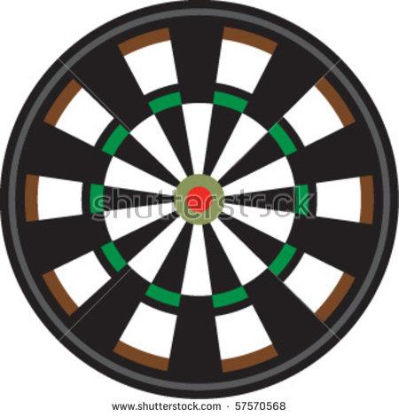 Target Board - Dart Board PNG HD