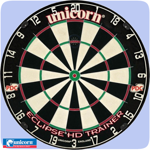 Unicorn u003cbu003eEclipse HD Traineru003c/bu003e Dartboard - Professional - Thinner - Dart Board PNG HD