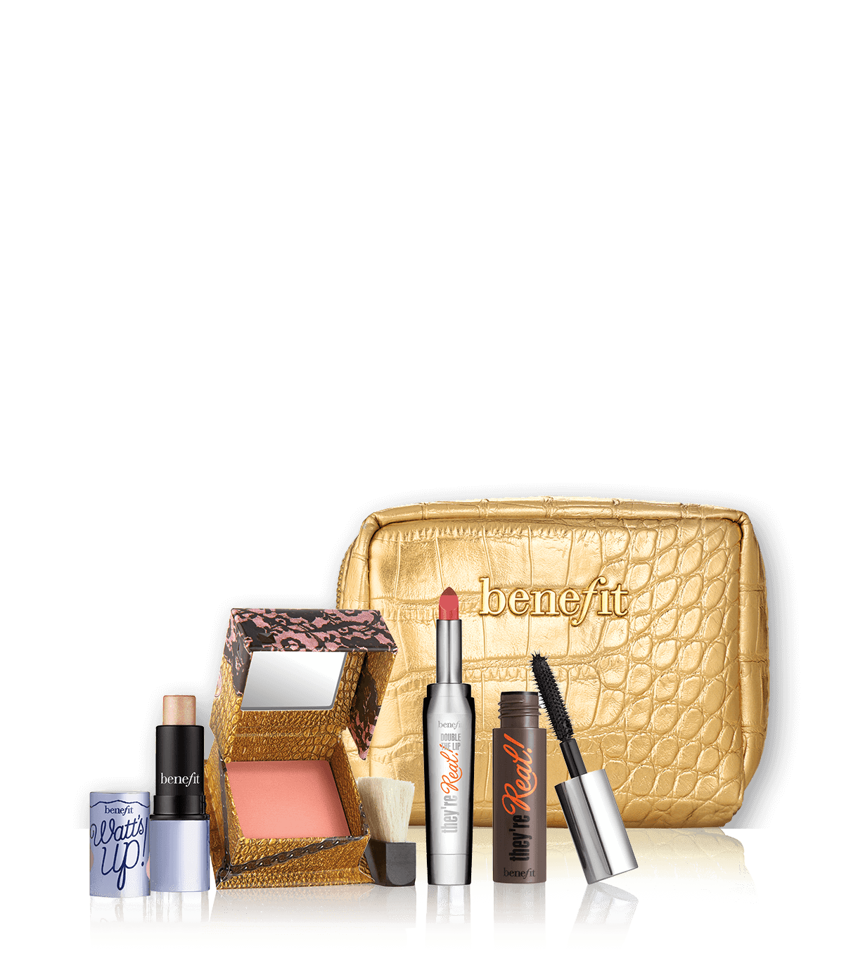 Date night with Mr. Right makeup kit includes Benefit bestsellers like  theyu0027re real - Makeup Kit Products PNG