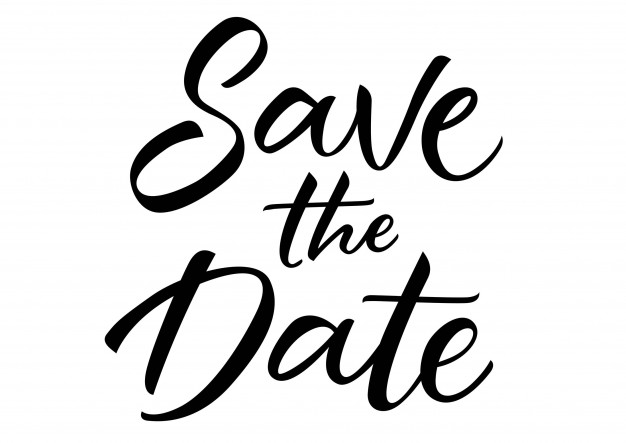 Save the Date Lettering Free Vector - Date PNG Black And White