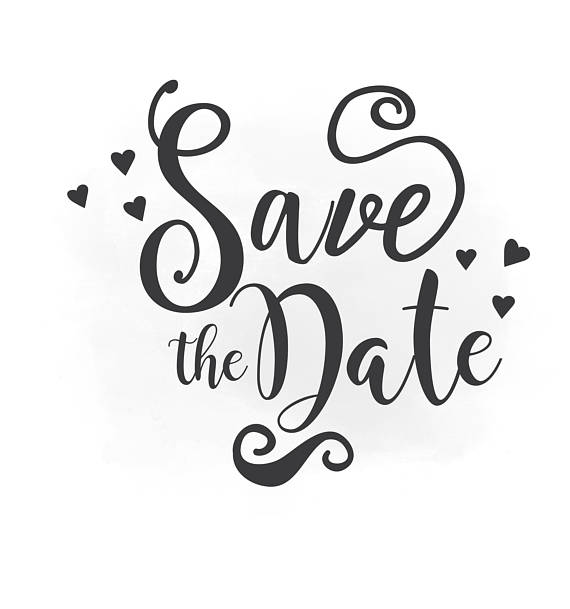 Save the Date SVG clipart, wedding annuncment, save the date vector,  wedding printable, Clipart in AI EPS Svg Png Jpeg Cricut u0026 Silhouette - Date PNG Black And White