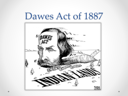 Power Point - The Dawes Act of 1887 - Dawes Act PNG