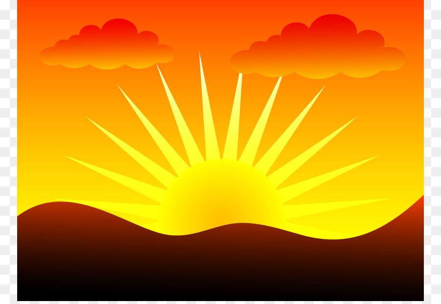 Sunrise Sunset Clip art - Sun