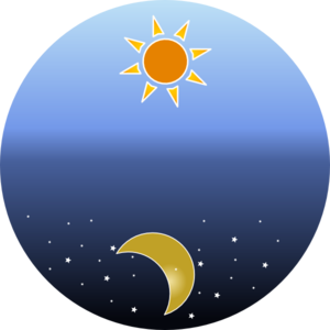 Day And Night Clip Art - Day And Night PNG