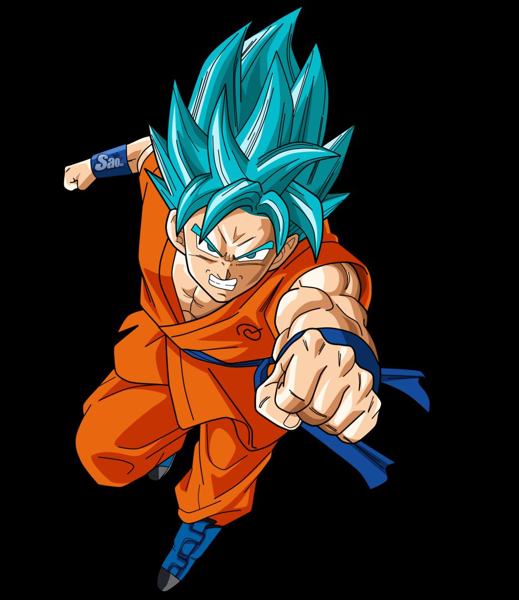 . PlusPng.com Goku SSGSS Run