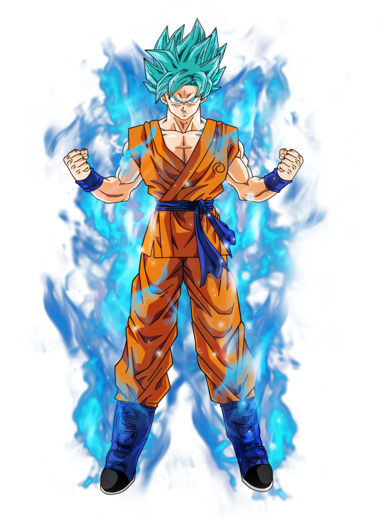 Goku super saiyan blue by bar