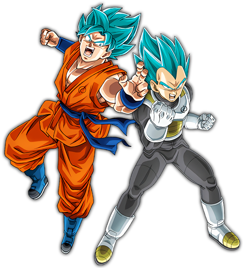 SSB Goku and Vegeta.png - Dbz PNG