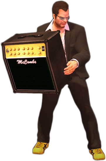 Dead rising amplifier holding.png - Dead Rising HD PNG